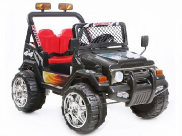 4x4 Style Jeep 12v Ride On Electric Toy Car Twin Seat With Parental Control Black